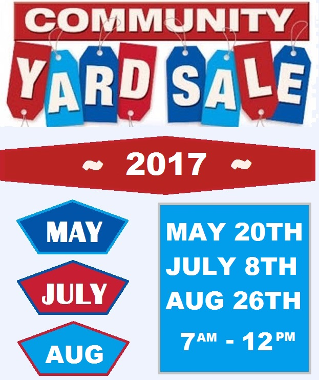 2017 Yard Sale Dates