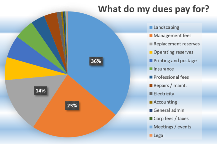 Dues graphic